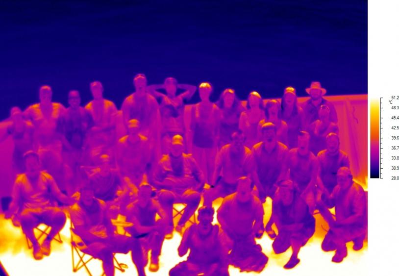 Photo Infrarouge de l'équipe de la première campagne en mer de la mission SPURS-2